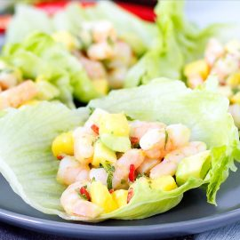 prawn and avocado