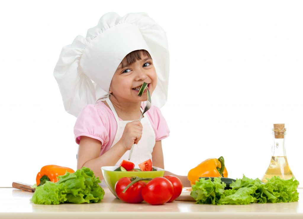 girl practicing good nutrition